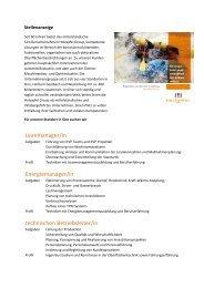 Leanmanager/in Energiemanager/in technischen ... - Holzapfel Group