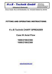 Fitting and operating instructions - H+B Technik