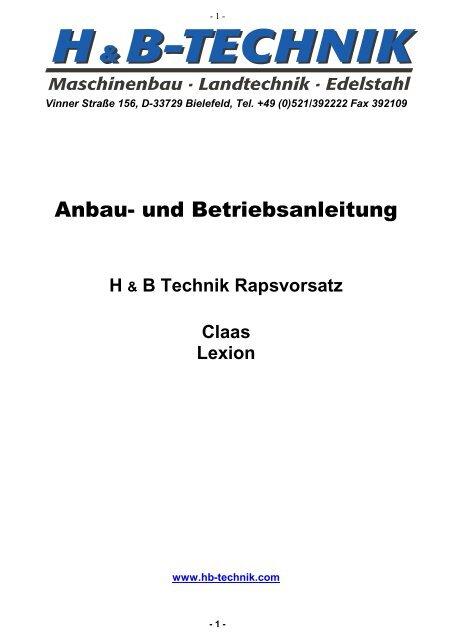 Claas Lexion - H+B Technik