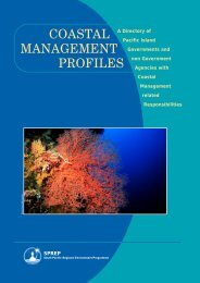 Coastal Management Profiles : A Directory of Pacific Island - SPREP