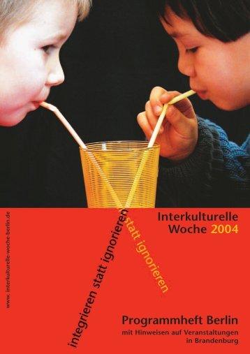 Programmheft Berlin Interkulturelle Woche 2004 - Herden ...