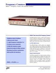 Frequency Counters - Prager Elektronik