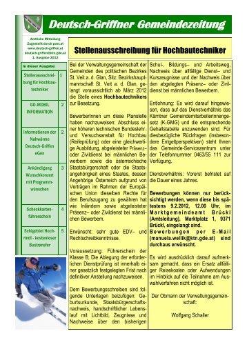 Gemeindezeitung Jänner 2012 - Gemeinde Deutsch - Griffen
