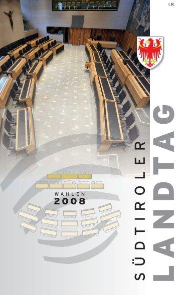 Download - Broschüre Landtagswahlen 2008 - Südtiroler Landtag