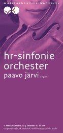hr-sinfonie orchester - Meister & Kammerkonzerte