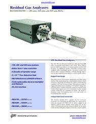 Residual Gas Analyzers - Prager Elektronik