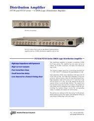 Distribution Amplifier - Prager Elektronik