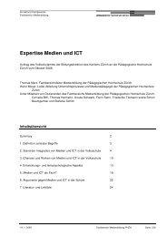 Expertise Medien und ICT - Bildungsdirektion - Kanton Zürich
