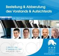 Bestellung & Abberufung des Vorstands & Aufsichtsrats