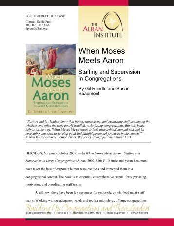 When Moses Meets Aaron - Alban Institute