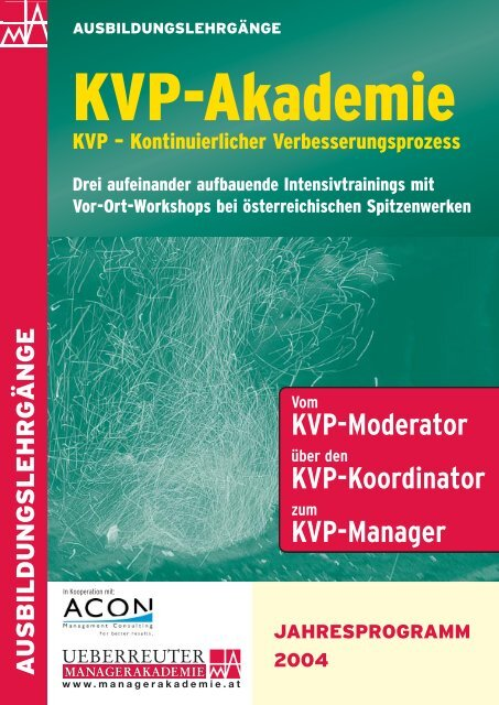 KVP-Moderator KVP-Koordinator KVP-Manager - ACON ...