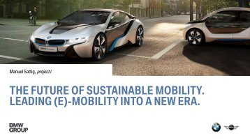 The Future of Sustainable Mobility - BMW Group