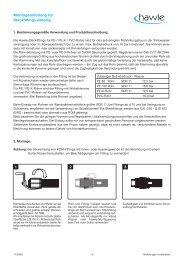 Bedienungsanleitung DE Steckfittings einteilig 1 ... - Hawle Armaturen