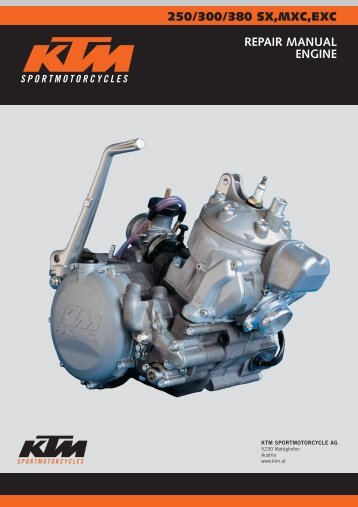 250/300/380 sx,mxc,exc repair manual engine - Tanga Moteurs