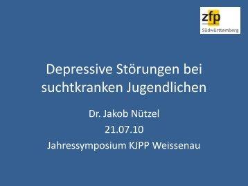 Depressive Störungen bei suchtkranken Jugendlichen