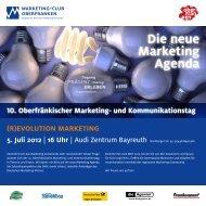 Die neue Marketing agenda - Marketing-Club Oberfranken