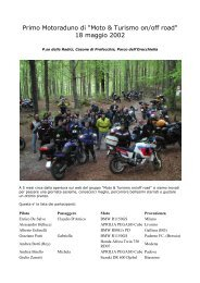 Il primo raduno di M&TOOR - Moto & turismo on/off road