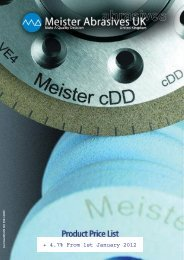 Product Price List for 2012 - Meister abrasives