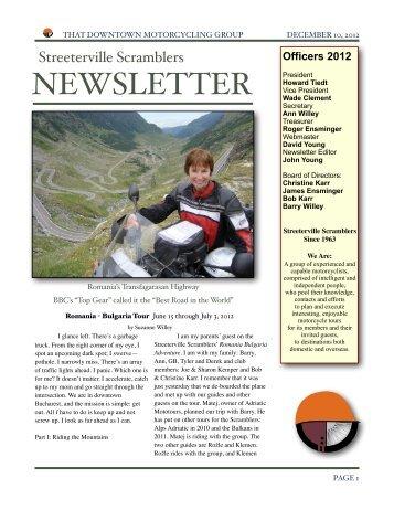 Scramblers Newsletter December 10, 2012 - Streeterville ...