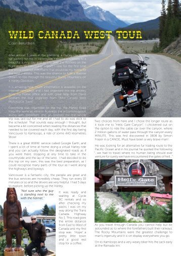 Wild Canada West Tour - Coastline Motorcycle Adventure Tours