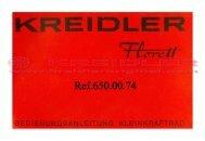 Kreidler Bedienungsanleitung Kleinkraftrad - Kreidler Original ...