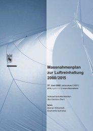 Massnahmenplan zur Luftreinhaltung 2000/2015 (Stand 5. April 2012)