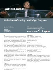 Medical Manufacturing - Vorläufiges Pro