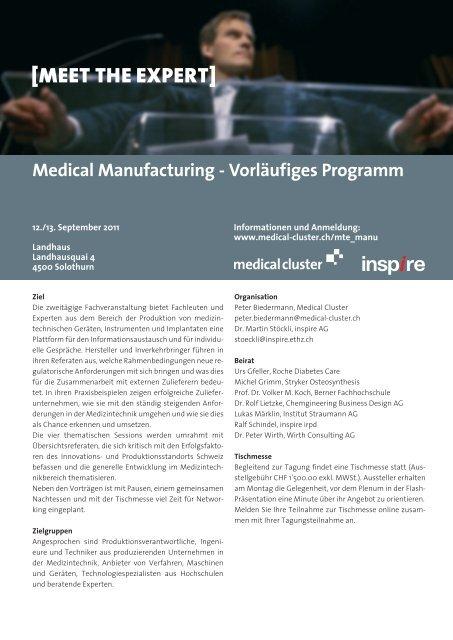 Medical Manufacturing - Vorläufiges Pro