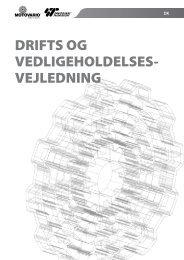 DRIFTS OG VEDLIGEHOLDELSES- VEJLEDNING - Motovario