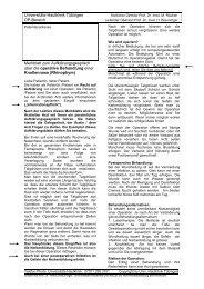 OP-Aufklärung Rhinophym - Universitäts-Hautklinik Tübingen