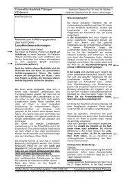 OP-Aufklärung regionäre Lymphknotendissektion - Universitäts ...