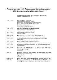 Programm der 102. Tagung der Vereinigung der Württembergischen ...