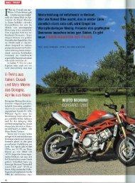 V-Twins aus Italien: Ducati und Moto Morini aus Bologna, Aprilia aus ...
