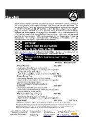 MOTO GP GRAND PRIX DE LA FRANCE 17 - 19 mai ... - Go4Race