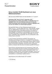 Sony erweitert OLED-Sortiment um neue ... - PRO.MEDIA
