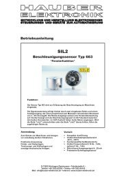 Beschleunigungssensor Typ 663 Betriebsanleitung - Prager Elektronik