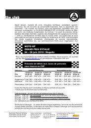 MOTO GP GRAND PRIX D'ITALIE 04 – 06 juin 2010 / Mugello