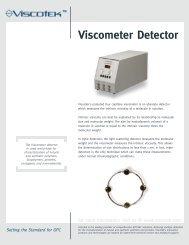 for more information visit us @ www.viscotek.com ... - Prager Elektronik