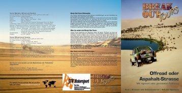 Offroad oder Aspahalt-Strasse - Breakout Tours