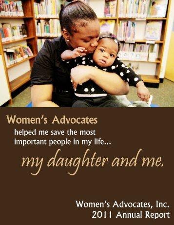 2011 Annual Report Draft - Women's Advocates, Inc.