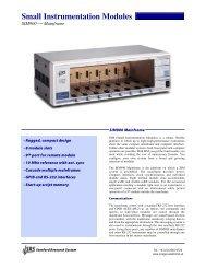 Small Instrumentation Modules - Prager Elektronik