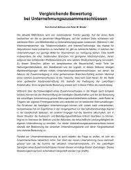 Vergleichende Bewertung bei ... - binder.ch