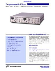 Programmable Filters - Prager Elektronik