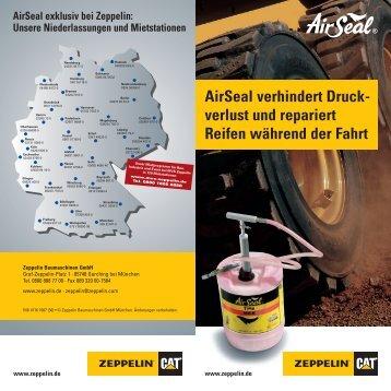 AirSeal verhindert Druck- verlust und repariert Reifen während der ...