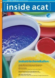 Industriechemikalien: - Applied Chemicals International ACAT