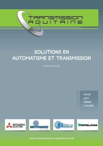 Télécharger le Catalogue - Transmission Aquitaine