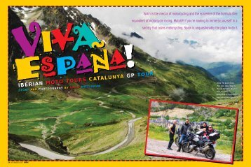 RIDER Magazine - October 2007 - Iberian Moto Tours