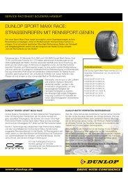 dunlop sport maxx race: strassen reifen mit ... - Scuderia Hanseat