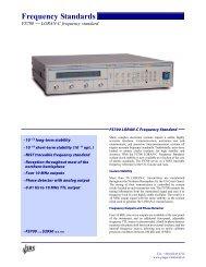 Frequency Standards - Prager Elektronik