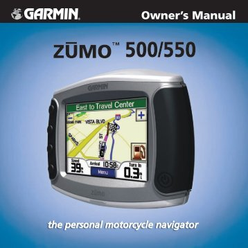 zumo 500/550 Owner's Manual - White Rose Motorcycle Tours